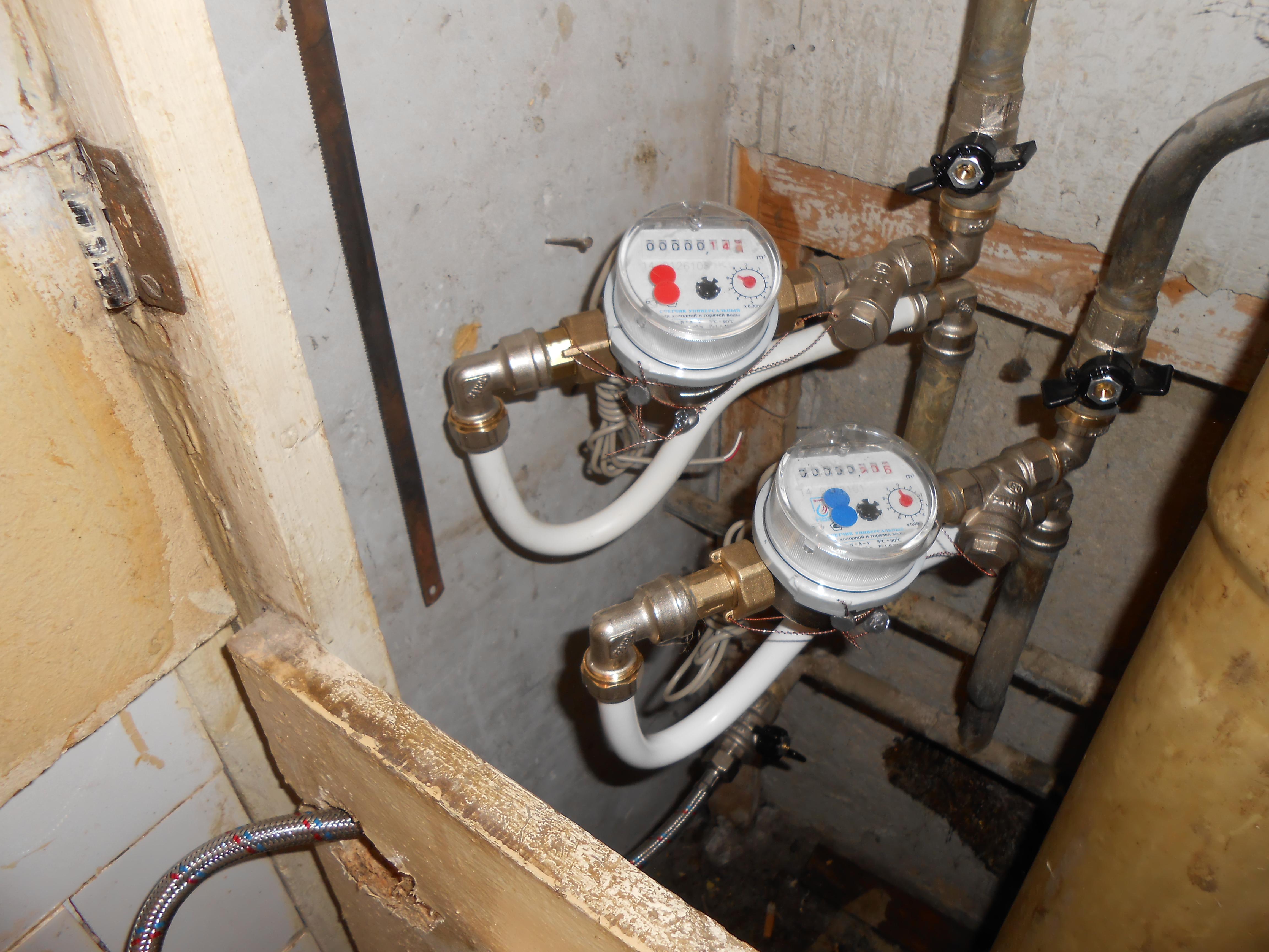 Установка счетчиков воды в квартире или доме самостоятельно 82